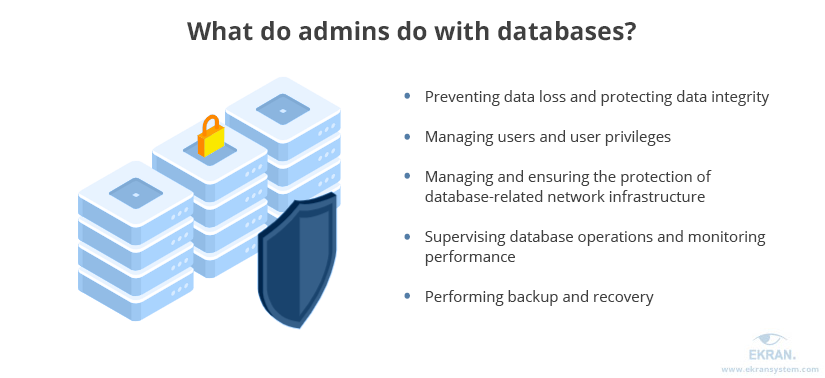 What do admins do with databases?